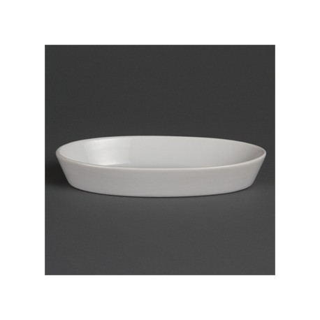 Olympia Whiteware Oval Sole Dishes 195x 110mm