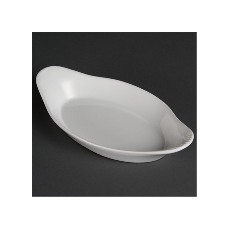 Olympia Whiteware Oval Eared Dishes 229x 127mm