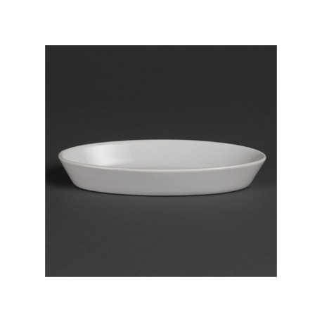 Olympia Whiteware Oval Sole Dishes 184x 103mm