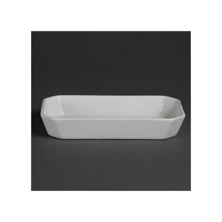Olympia Whiteware Oblong Hors d'Oeuvre Dishes 235x 122mm