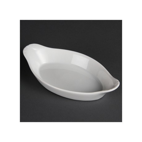 Olympia Whiteware Oval Eared Dishes 204mm