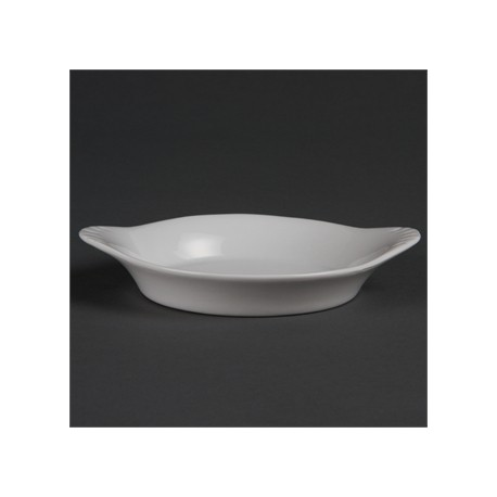 Olympia Whiteware Round Eared Dishes 156x 126mm