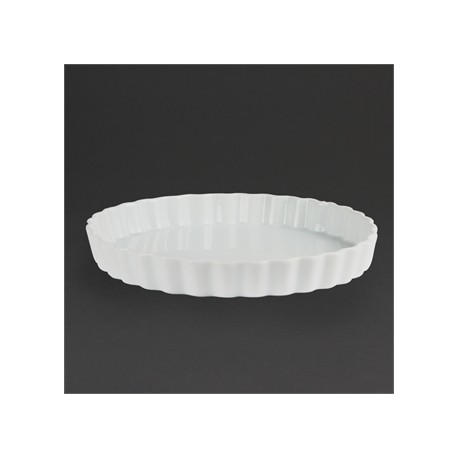 Olympia Whiteware Flan Dishes 265mm