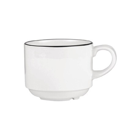 Churchill Alchemy Mono Stacking Tea Cups 206ml