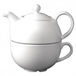 Churchill Plain Whiteware Teapots 370ml