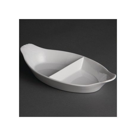 Olympia Divided Oval Eared Dishes 290x 160mm
