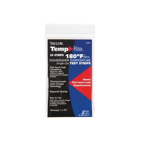 Dishwasher Temperature Test Strip