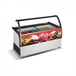 Crystal Venus Elegante 8 Pan Ice Cream Display Counter VenusEle36