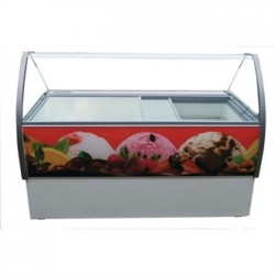 Crystal Venus Elegante 10 Pan Ice Cream Display Counter VenusEle46