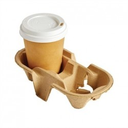 Disposable Cup Carry Trays 2 Cup