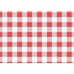 Red Gingham Greaseproof Paper 250x250mm