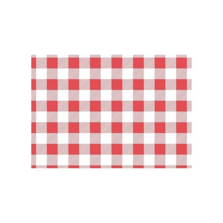 Red Gingham Greaseproof Paper 310x380mm