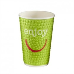 Huhtamaki Enjoy Double Wall Disposable Hot Cups 16oz
