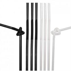 Fiesta Extraflex Black & White Straws