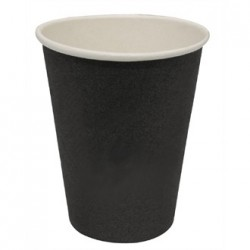 Fiesta Disposable Hot Cups Black 8oz x50