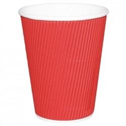 Fiesta Takeaway Coffee Cups Ripple Wall Red 12oz x25