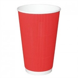 Fiesta Takeaway Coffee Cups Ripple Wall Red 16oz x25