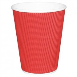 Fiesta Takeaway Coffee Cups Ripple Wall Red 12oz x500
