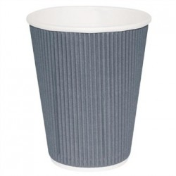 Fiesta Takeaway Coffee Cups Ripple Wall Charcoal 8oz x25