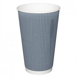 Fiesta Takeaway Coffee Cups Ripple Wall Charcoal 16oz x25