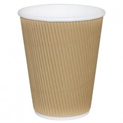 Fiesta Takeaway Coffee Cups Ripple Wall Kraft 8oz x25