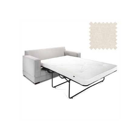 Jay-Be Contract Two Seater Sofa Bed Modern in Cream Colour
