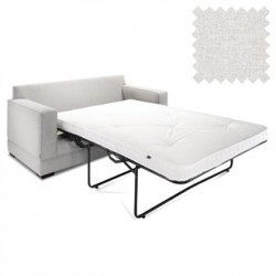Jay-Be Contract Two Seater Sofa Bed Modern in Stone Colour