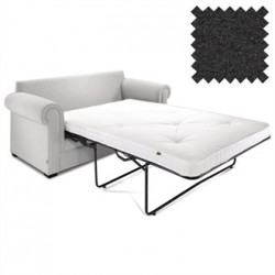 Jay-Be Contract Two Seater Sofa Bed Classic in Charcoal Colour