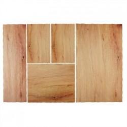 APS Oak Effect Melamine Tray 2/4GN
