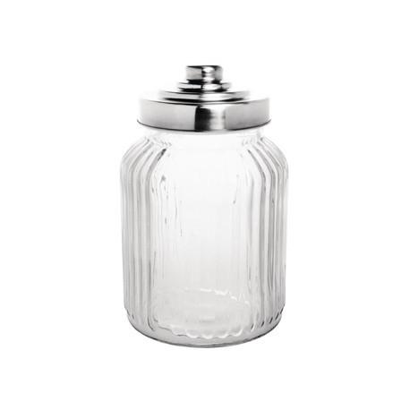 Olympia Ribbed Glass Storage Jar 900ml