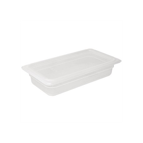 Vogue Polypropylene 1/3 Gastronorm Container with Lid 100mm