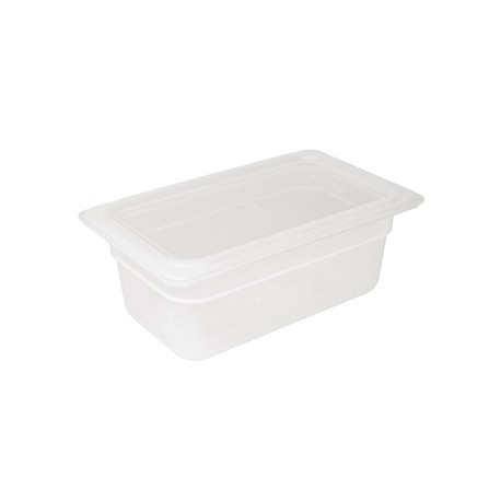 Vogue Polypropylene 1/4 Gastronorm Container with Lid 100mm