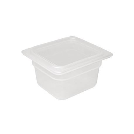 Vogue Polypropylene 1/6 Gastronorm Container with Lid 100mm