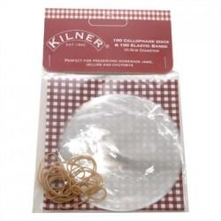 Kilner Cellophane Discs With Elastic Bands 10.5cm