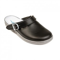 Abeba Leather Clog Black Size 36