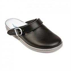 Abeba Leather Clog Black Size 46