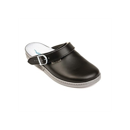 Abeba Leather Clog Black Size 46