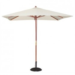 Bolero Square Pulley Parasol 2.5m Wide Cream