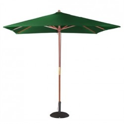 Bolero Square Double Pulley Parasol 2.5m Wide Green