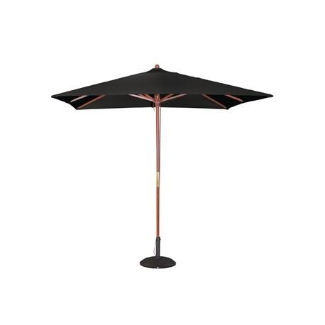 Bolero Square Double Pulley Parasol 2.5m Wide Black