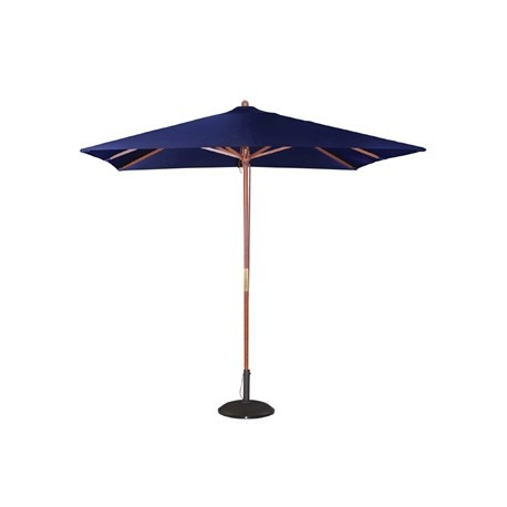 Bolero Square Double Pulley Parasol 2.5m Wide Navy Blue