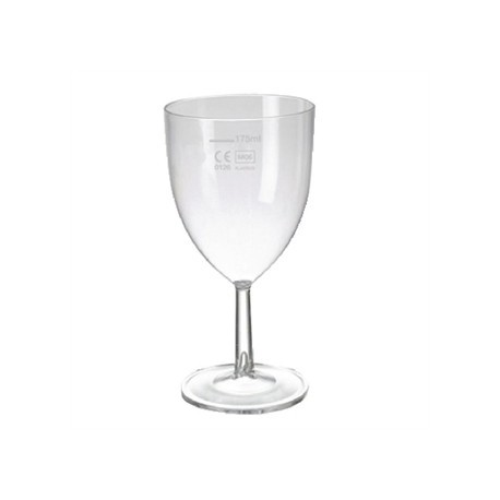 Polystyrene Wine Glasses 200ml CE Marked at 175ml