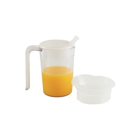 Clear Mug with Handle & 2 lids