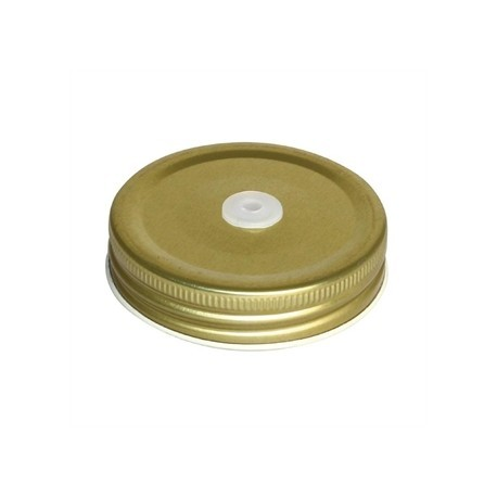 Olympia Mason Jar Lid with Straw Hole