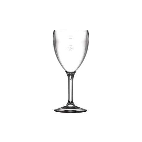 BBP Polycarbonate Wine Glasses 310ml CE Marked at 175ml and 250ml