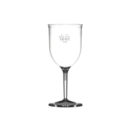 Polystyrene Wine Glasses 340ml CE Marked at 250ml