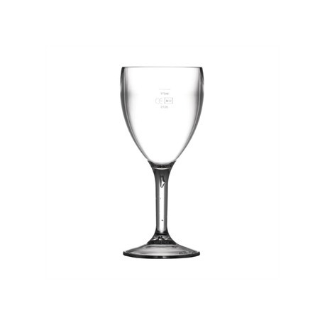 BBP Polycarbonate Wine Glasses 255ml CE Marked at 175ml