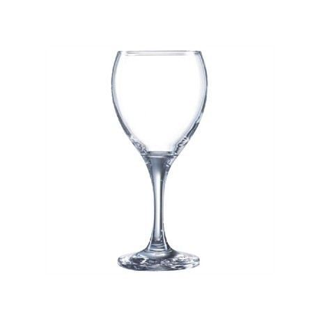 Arcoroc Seattle Nucleated Wine Glasses 310ml CE Marked at 250ml