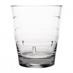 Kristallon Polycarbonate Ringed Tumbler Clear 285ml