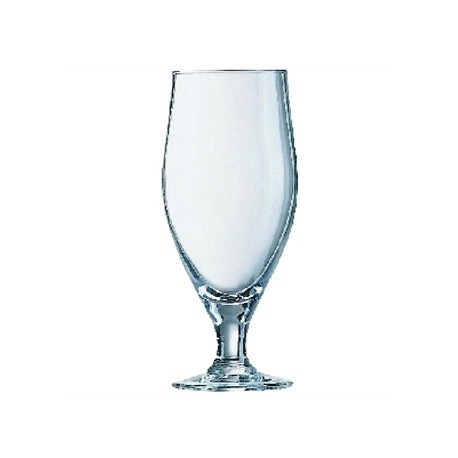 Arcoroc Cervoise Nucleated Stemmed Beer Glasses 320ml CE Marked at 284ml